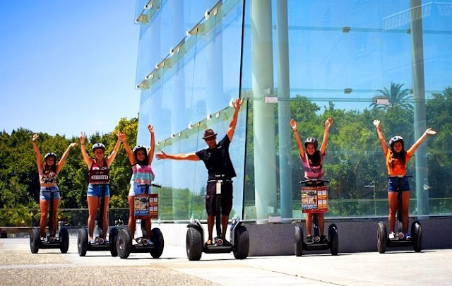 Group of Segway Tour having fun