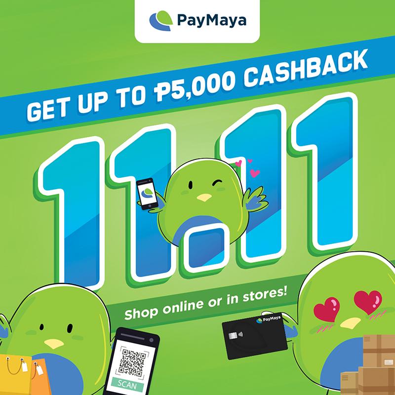 PayMaya announces 11.11 deals and cashbacks