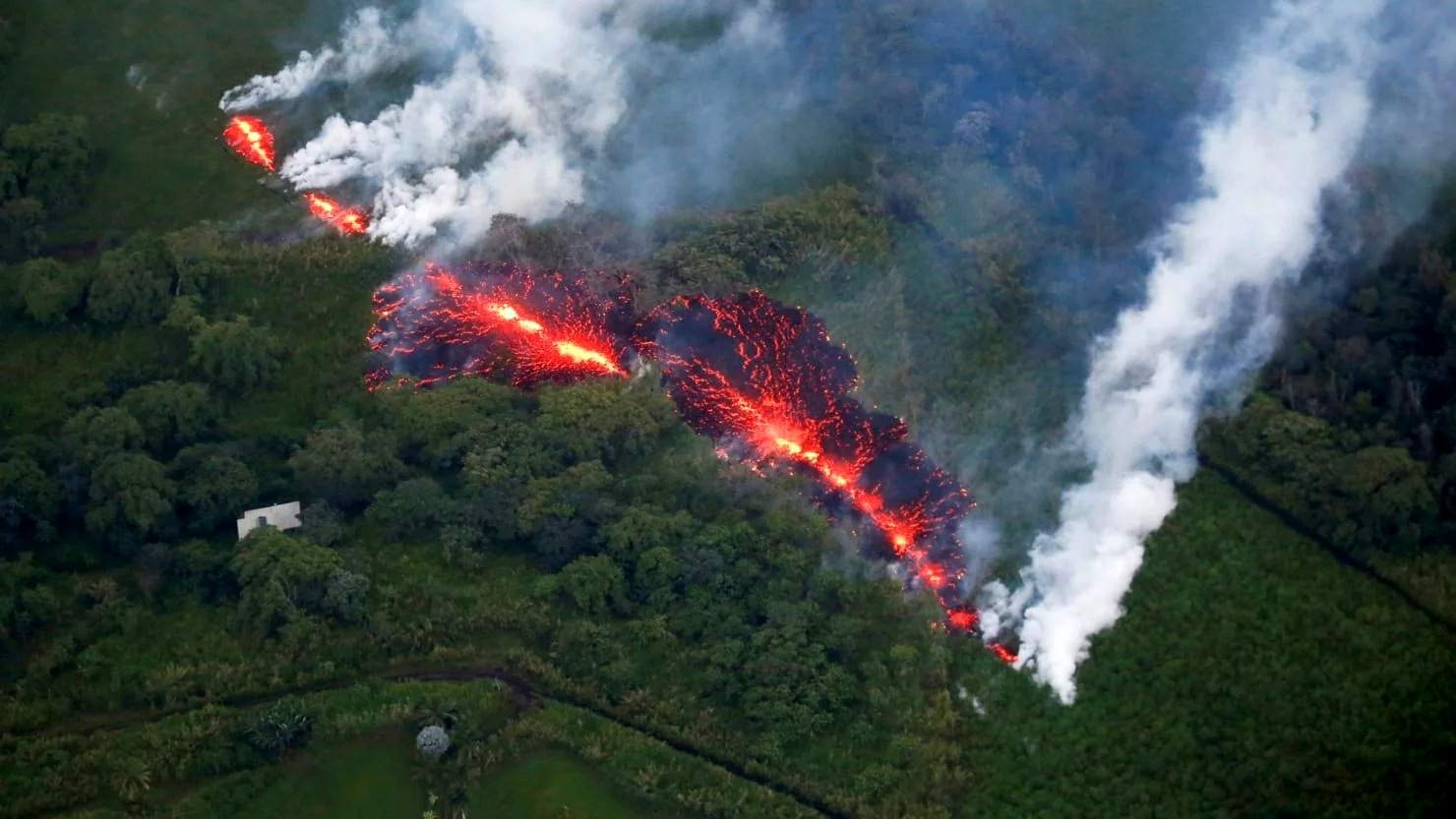 Rivers Of Fast-Moving Lava Flow From Hawaii's Volcano 🌋
