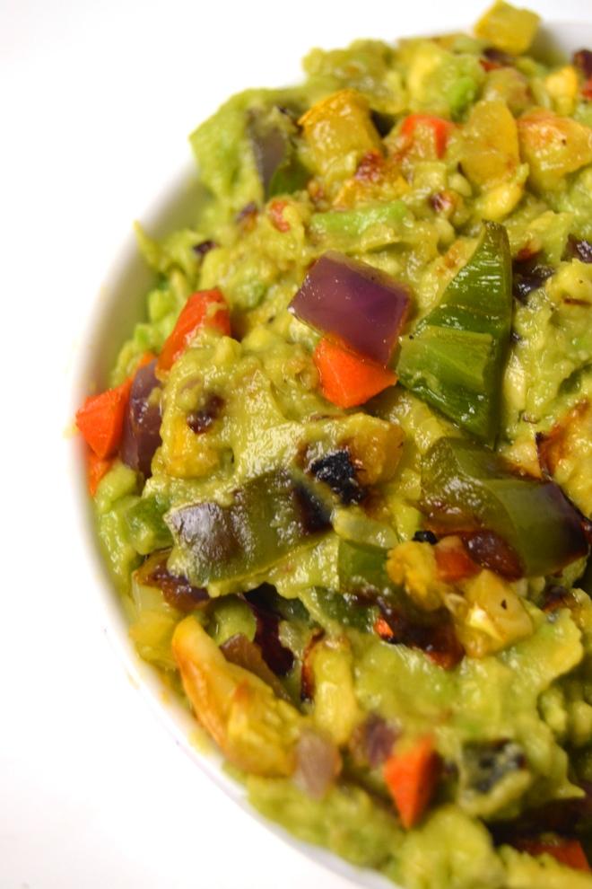 Grilled Veggie Loaded Guacamole