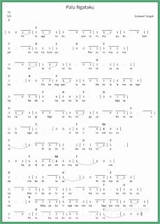not angka lagu palu ngataku lagu daerah sulawesi tengah