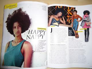 tendance happy nappy  retour du cheveu afro