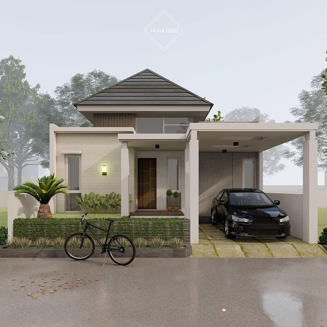 Desain dan Denah Rumah Mungil 3 Kamar Tidur Tanah 70 M2 ...