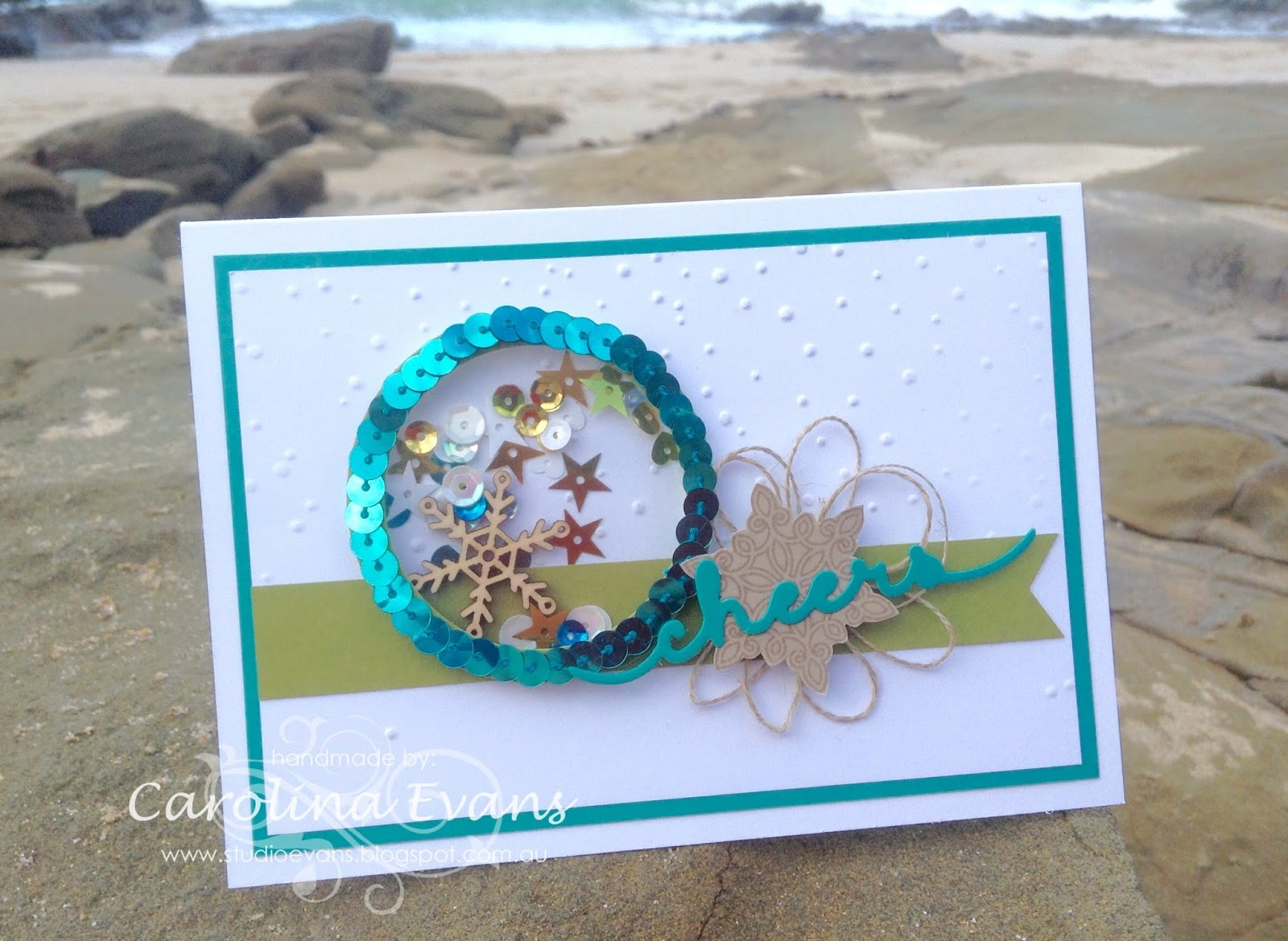 My Kids Were So Happy, They Loved It. Now Todays Card Matches The Ocean  Scene Perfectly! And Its A Shaker Card   Oh My, So Fun   Love Making Them!!