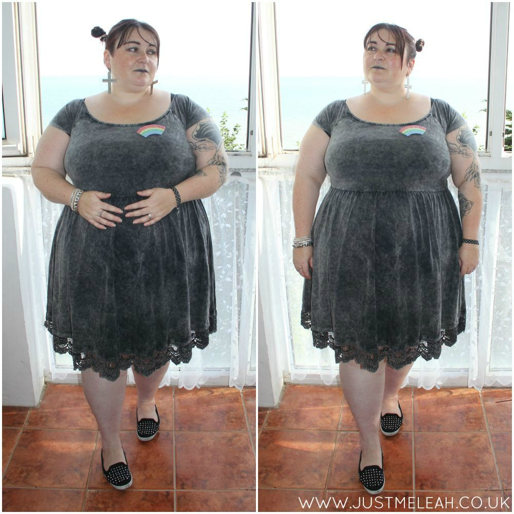 PLUS SIZE ALTERNATIVE ROCK CHICK DRESS