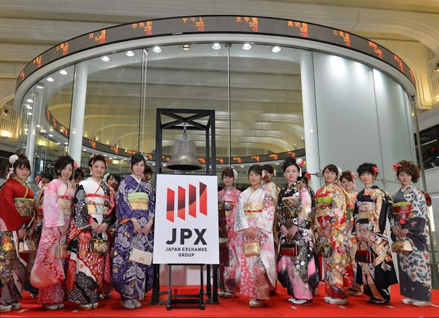 The first trading day of the year, at Tokyo & Stock Exchange