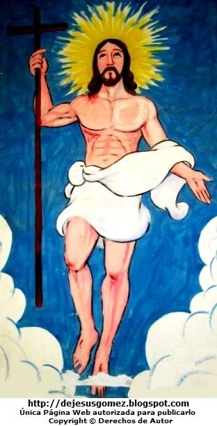Dibujo de Jesús a color para niños. Imagen de Jesús tomada por Jesus Gómez