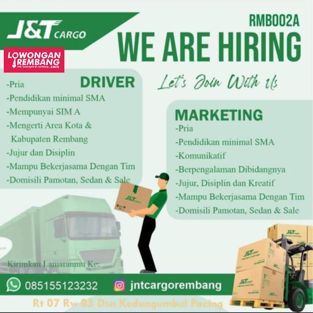 Lowongan Kerja Driver dan Marketing J&T Cargo Rembang