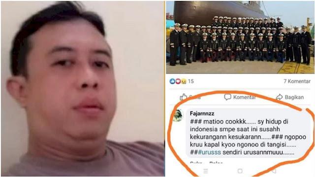 Polda DIY Amankan Oknum Polisi yang Tulis Komentar Miring soal KRI Nanggala 402