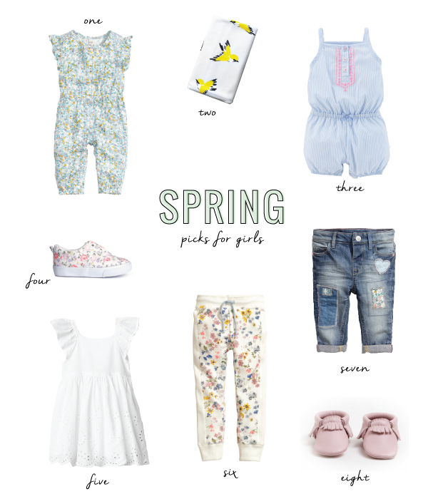 spring style picks for baby girls and little girls