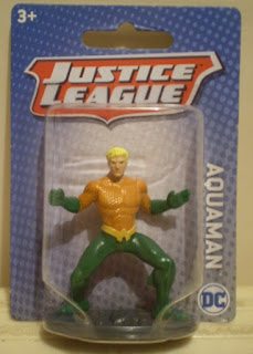 Miniature Aquaman figurine from Mattel in 2018