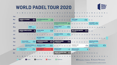 Calendario Oficial World Padel Tour 2020