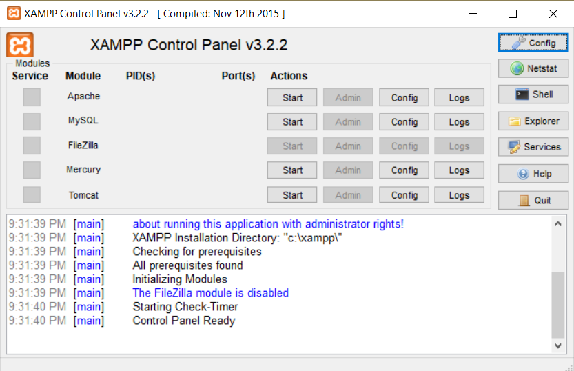 How to configure XAMPP to open Apache and phpMyAdmin on port