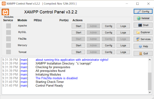 How to configure XAMPP to open Apache and phpMyAdmin on port 8080 by default