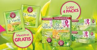 Gratis muestras de té verde Pompadour y sorteo de sus infusiones de té verde