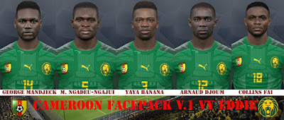 PES 2017 Facepack Cameroon NT 2019 by Eddie Facemaker