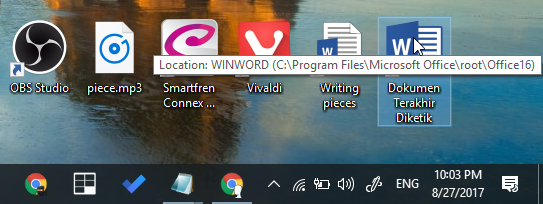 Cara Membuat Shortcut Dokumen Terakhir Word di Desktop