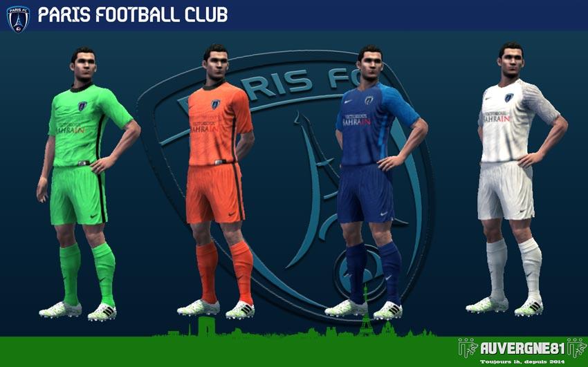 Kits Paris FC 2021-2022 For PES 2013