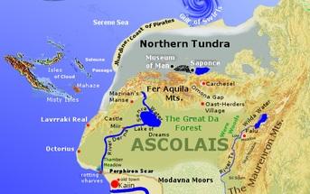 Ascolais térképe Haldokló Föld