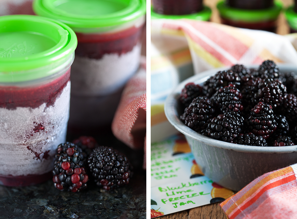 Cafe lynnylu blackberry lime freezer jam for Blackberry pear jam