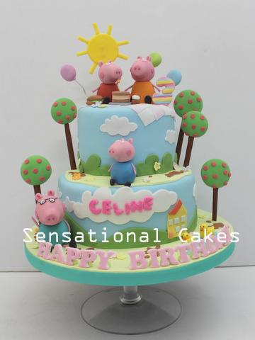 The Sensational Cakes 2 Tier Peppa Pig Cake Singapore Peppa Pig