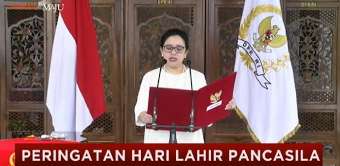 """Puan Maharani Baca UUD 1945 Dengan menambahkan Kalimat """"Pro Rakyat"""""""