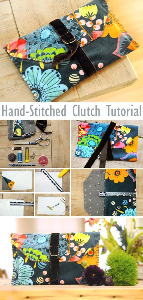 Hand-Stitched Velveteen Clutch Tutorial