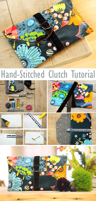 Hand-Stitched Velveteen Clutch Tutorial