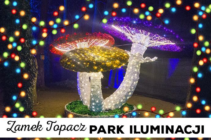 Zamek Topacz | Park iluminacji