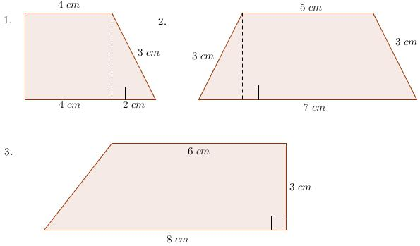 ... area of trapezoids and triangles worksheets exterior angles pentagon