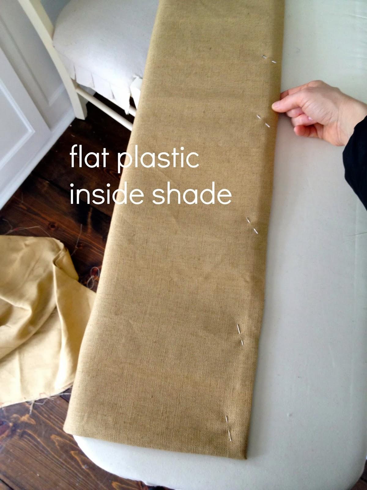 flat plastic inside bottom of shade