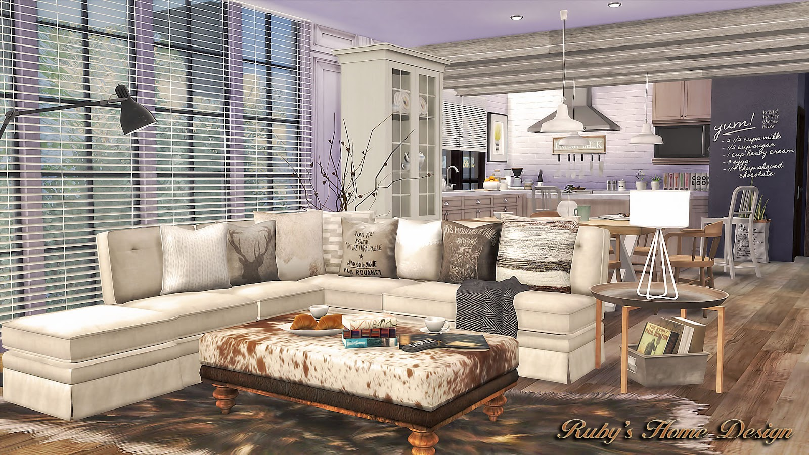 My Sims 4 Blog: Neutral Chic House By Ruby Red