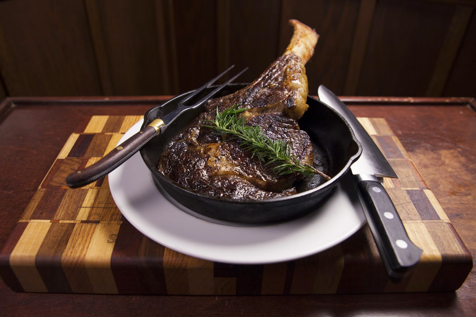 "The Ember Prime ""Tomahawk"": 40 oz. Ribeye Carved Table-side"