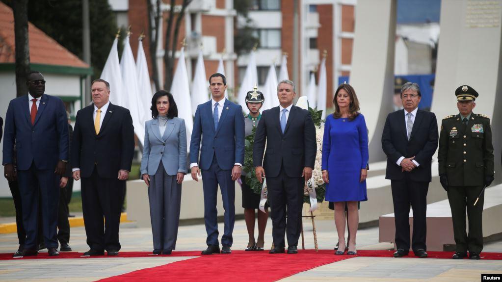 A la III Conferencia Ministerial Hemisférica de Lucha contra el Terrorismo en Colombia asisten delegados de más de 25 países, entre ellos el secretario de Estado de Estados Unidos, Mike Pompeo, y el presidente encargado de Venezuela, Juan Guaidó / REUTERS