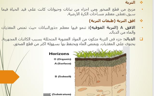 ملخص درس التربة علوم خامس