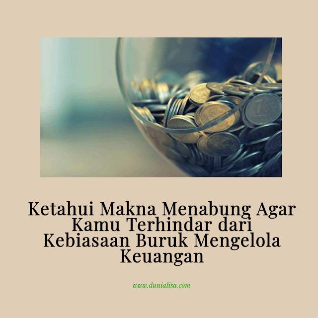 makna menabung