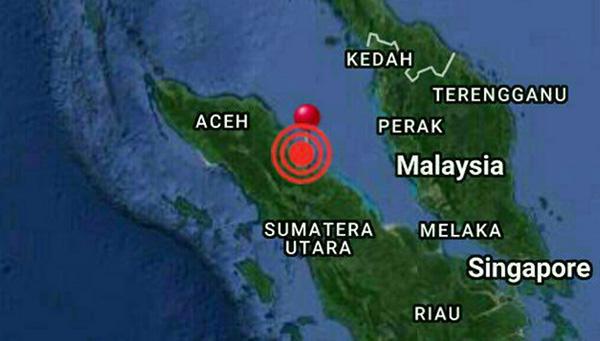 Gempa Bumi di Medan Hari Ini