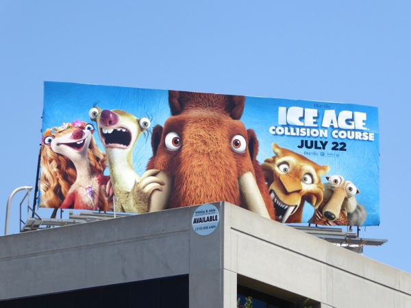 Ice Age Collision Course film billboard