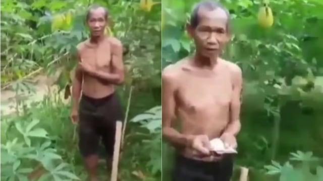 Curi Singkong karena Kelaparan, Kakek Ini Malah Diberi Uang oleh Pemilik Kebun : Ini Kebun Allah, Ambil Aja!