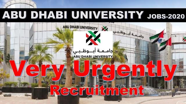 Abu Dhabi University Hiring Staff 2020 | Jobs In UAE 2020 |