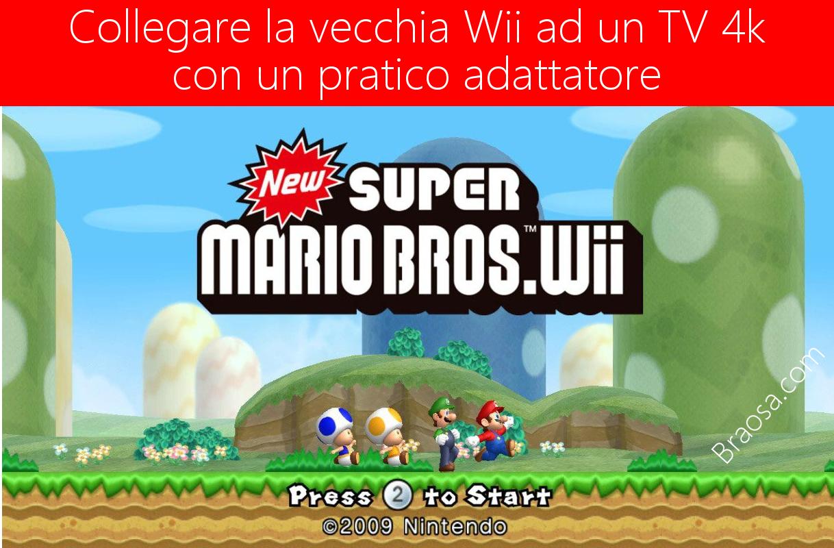 Collegare la Nintendo Wii alla TV 4K con un pratico adattatore