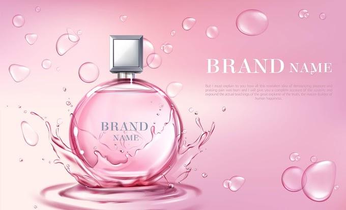 perfume bottle vector art Vector 3d realistic poster, banner with perfume bottle Free Vector