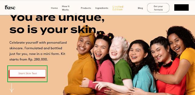 Pengalaman custom skincare di base.co.id