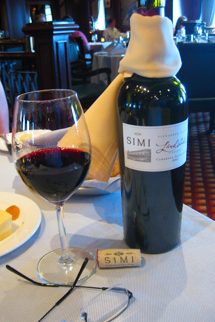 Wine at the Crown Grill aboard the Ruby Princess