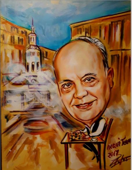 Caricatura de Jaume Anguera Maestro