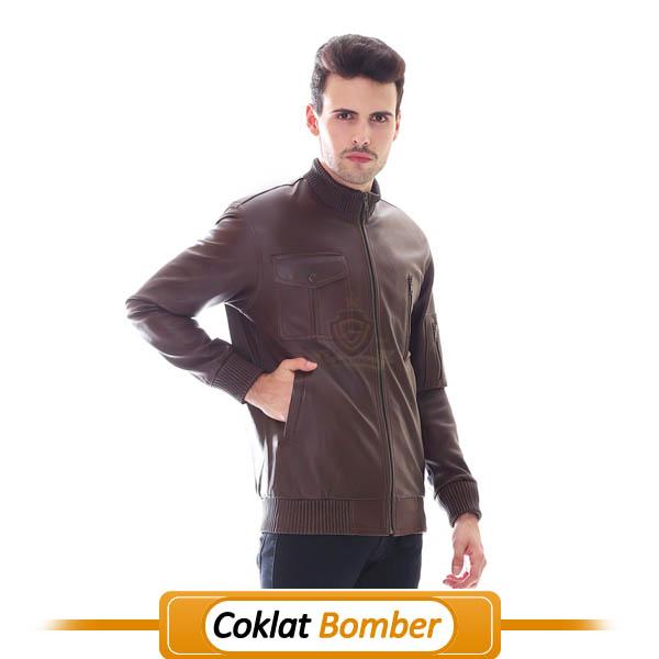 Jaket Kulit Bomber Super Coklat