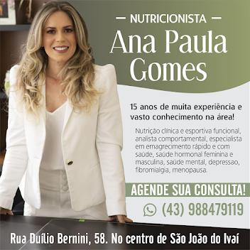 NUTRICIONISTA ANA PAULA GOMES