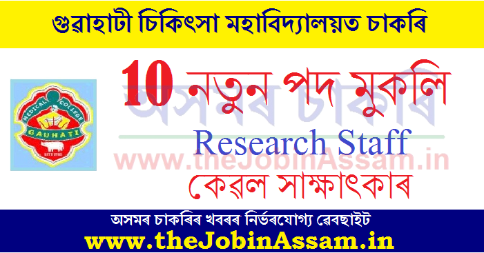 GMCH Guwahati Recruitment 2020