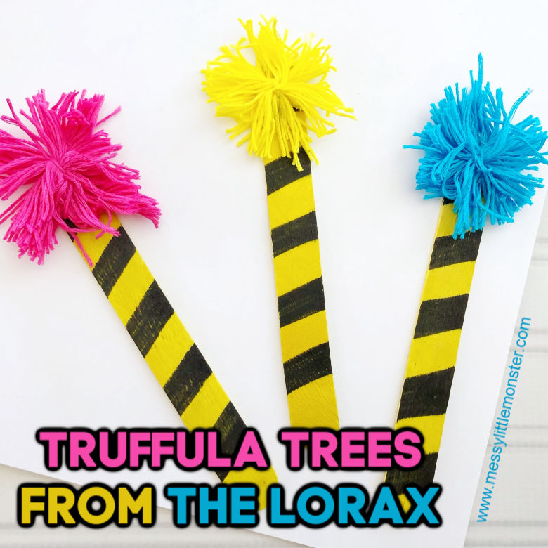 The Lorax Truffula Tree Craft