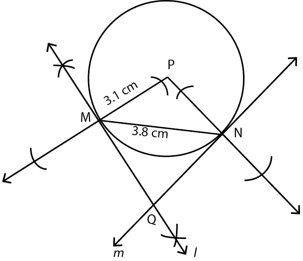 OMTEX CLASSES: 4. Draw a circle with centre P and radius 3